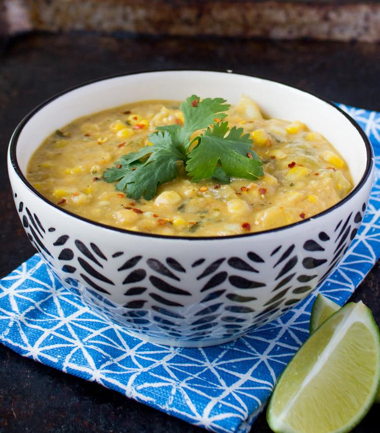Corn Chowder Vegetarian  Vegan Creamy Corn Chowder VIDEO Sweet Potato Soul by