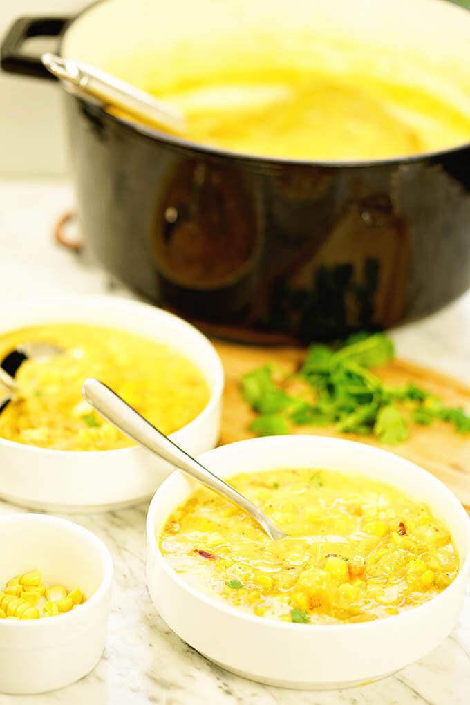 Corn Chowder Vegetarian  Ve arian Corn Chowder Recipe Bowl Me Over