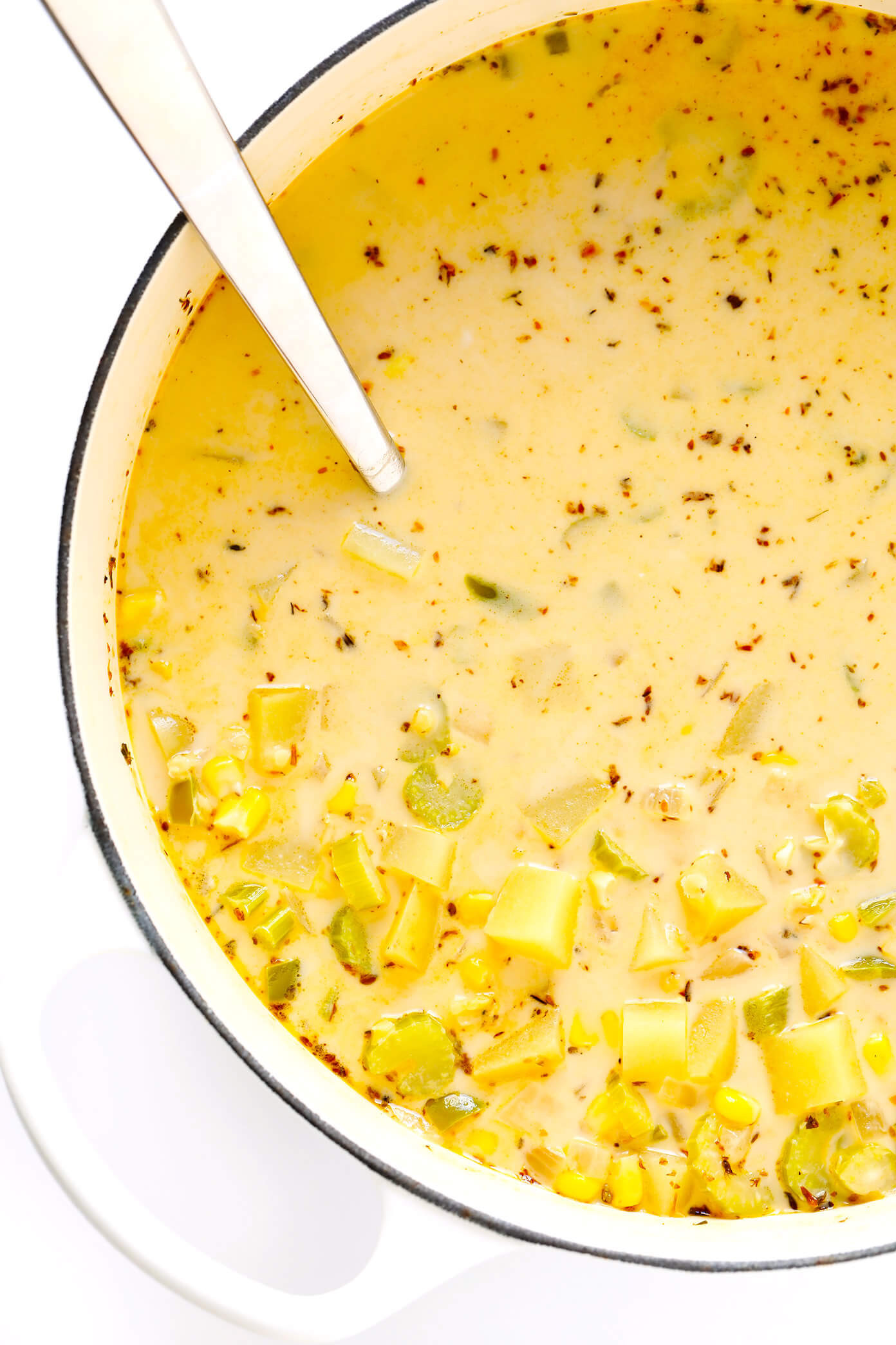 Corn Chowder Vegetarian  Cajun Corn Chowder