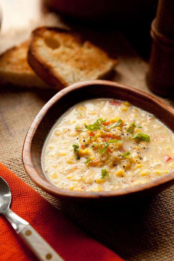 Corn Chowder Vegetarian  Ve arian Corn Chowder Shoot to Cook