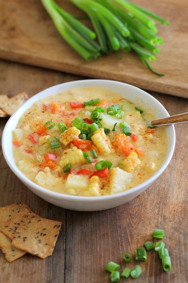 Corn Chowder Vegetarian  Vegan Corn Chowder The Roasted Root