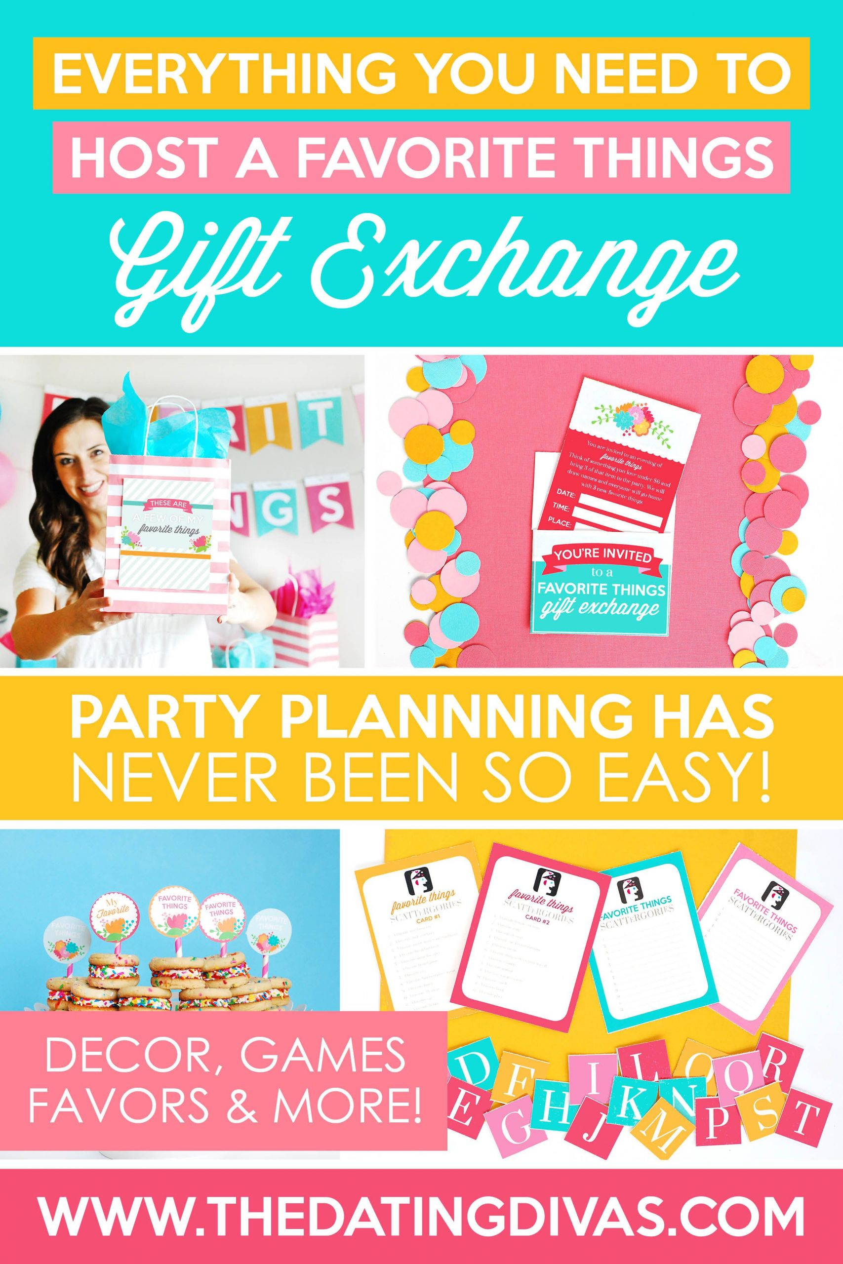 Couples Gift Exchange Ideas  Everything You Need to Host a Favorite Things Party