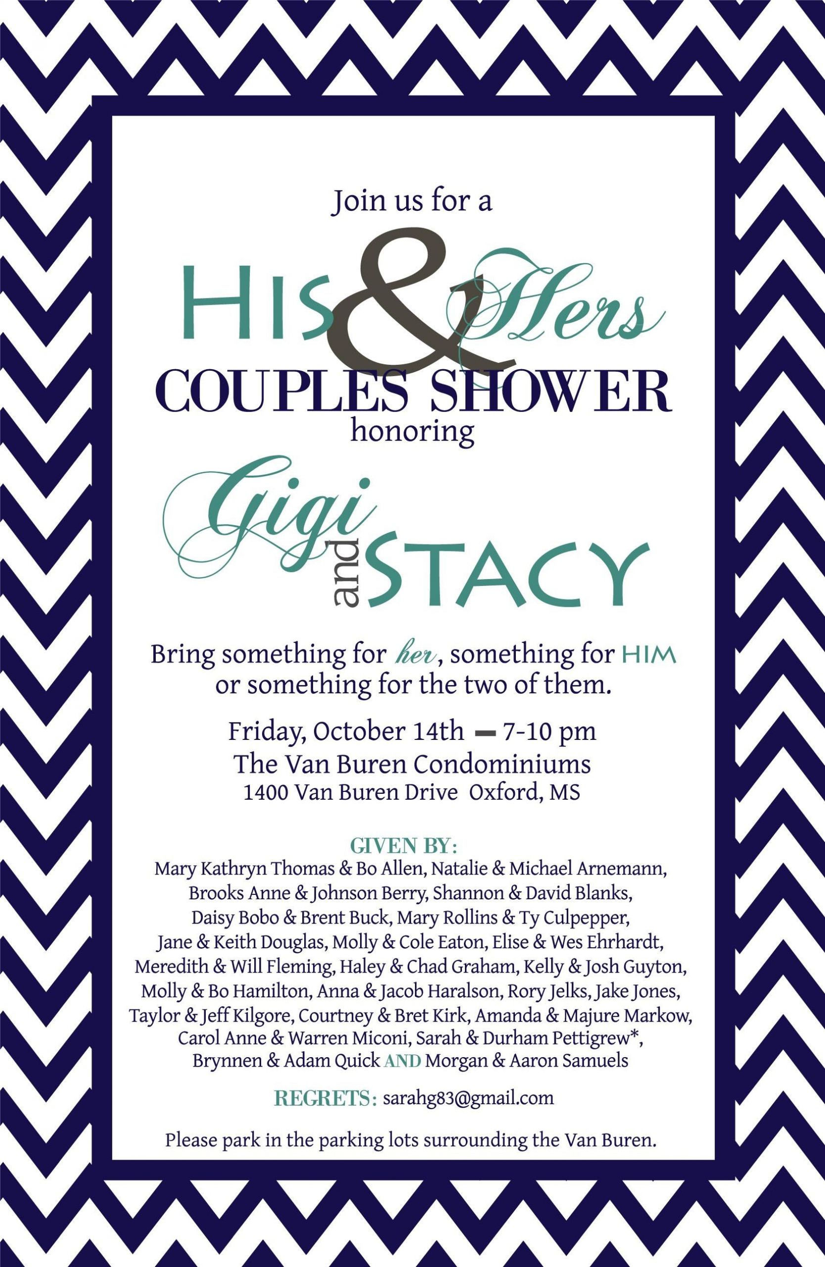 Couples Wedding Shower Ideas Themes  couples wedding shower invitation