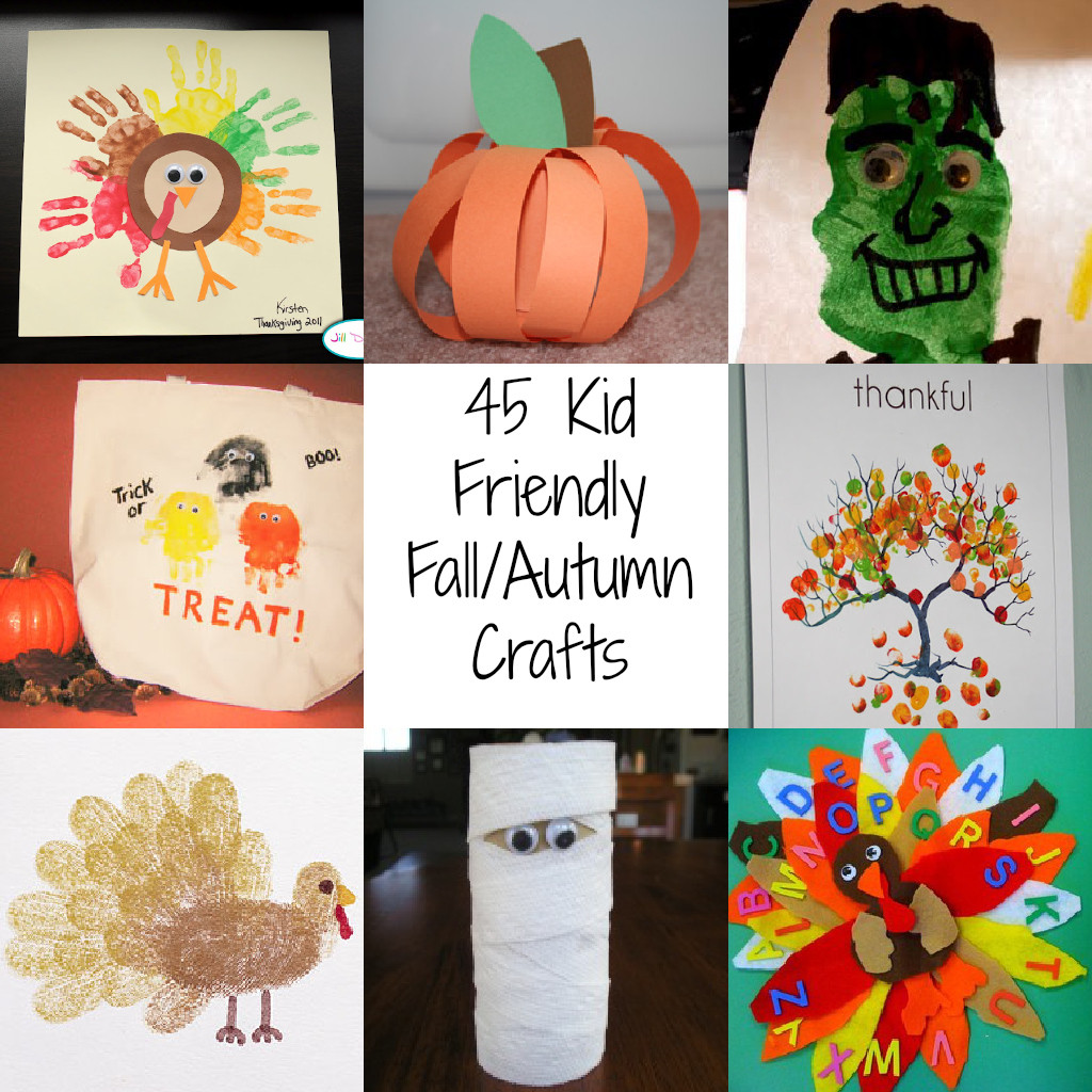 Crafts Ideas For Kids  45 Kid Friendly Fall Autumn Crafts A Spectacled Owl
