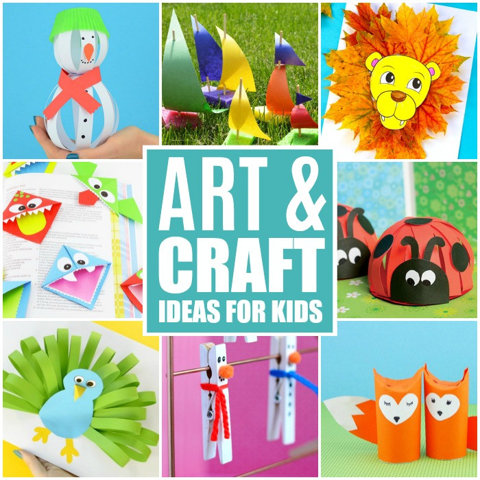 Crafts Ideas For Kids  Crafts For Kids Tons of Art and Craft Ideas for Kids to