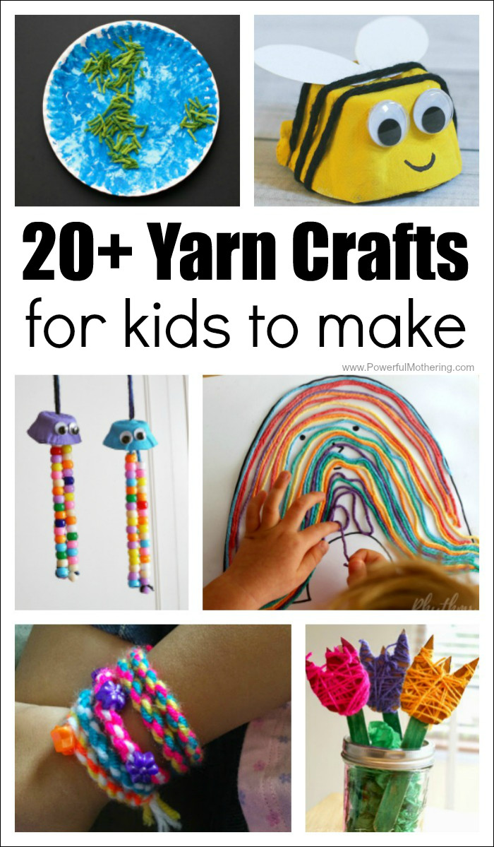 Crafts Ideas For Kids  20 Absolutely Fantastic Easy Yarn Crafts for Kids to Make