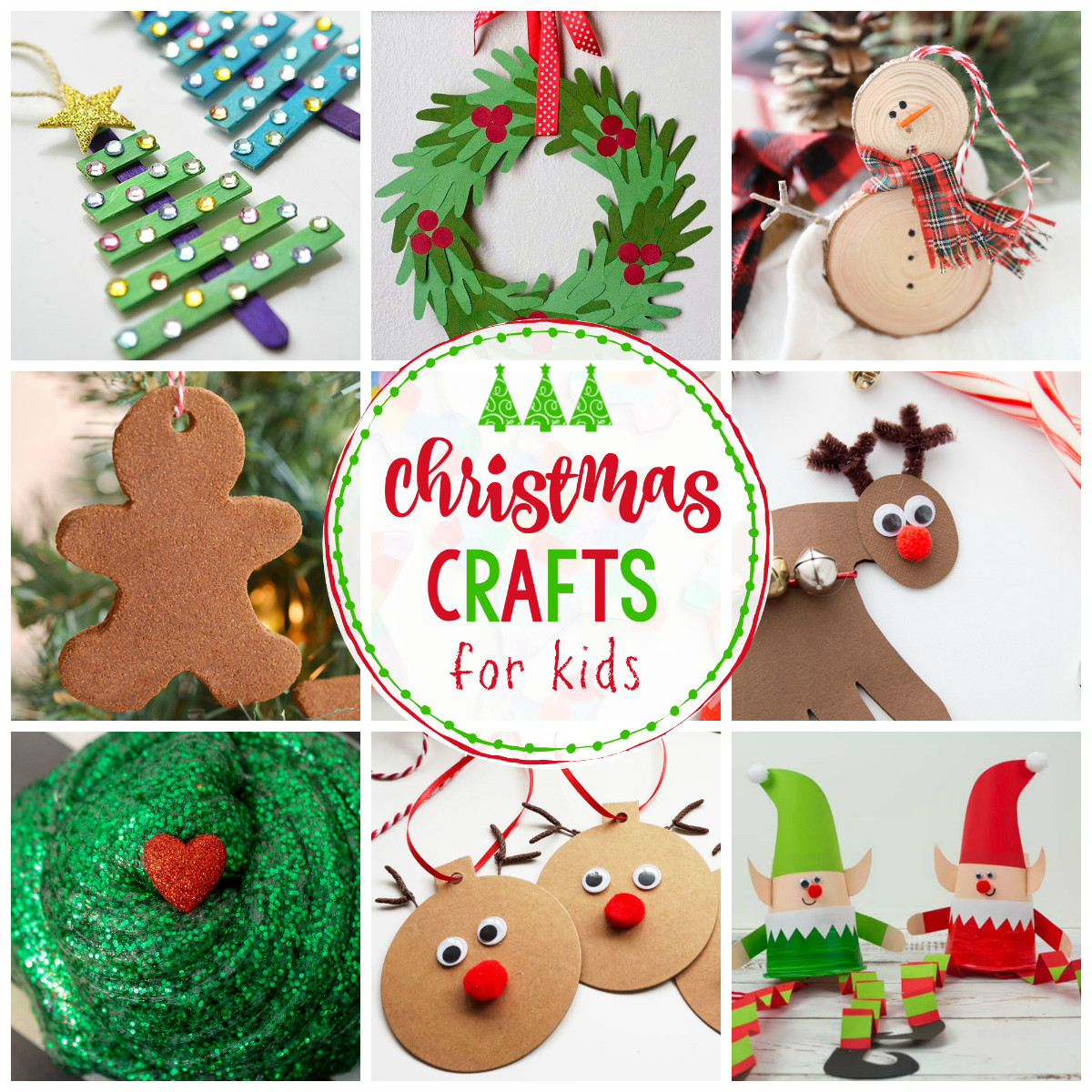 Crafts Ideas For Kids  25 Easy Christmas Crafts for Kids Crazy Little Projects