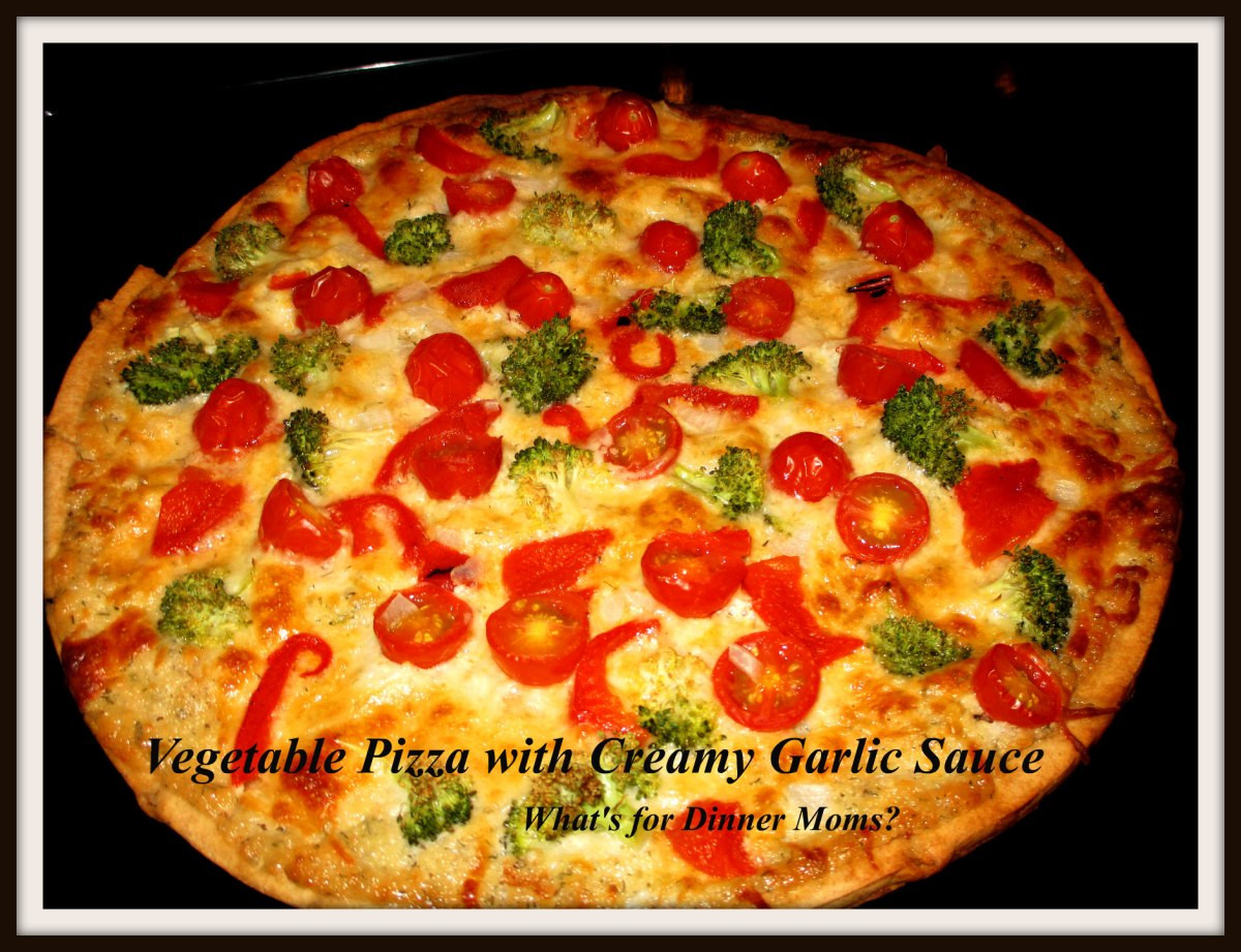 Creamy Garlic Pizza Sauce  Ve able Pizza with Creamy Garlic Sauce – What s for
