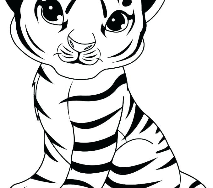 Cute Baby Tiger Coloring Pages  Cute Baby Tiger Coloring Pages at GetColorings
