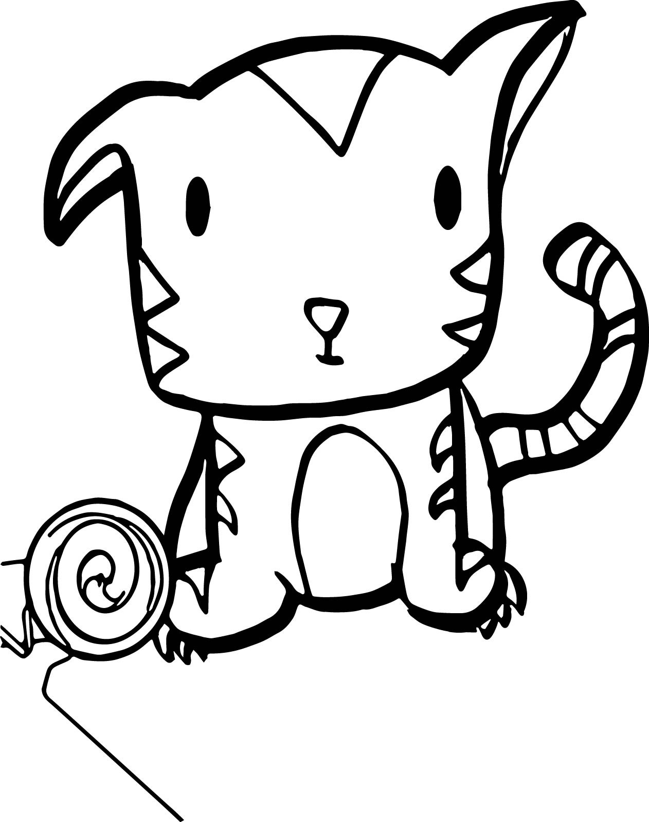 Cute Baby Tiger Coloring Pages  Very Cute Baby Tiger Coloring Page