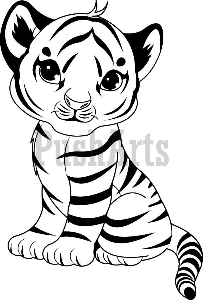 Cute Baby Tiger Coloring Pages  143 best images about coloring pages on Pinterest