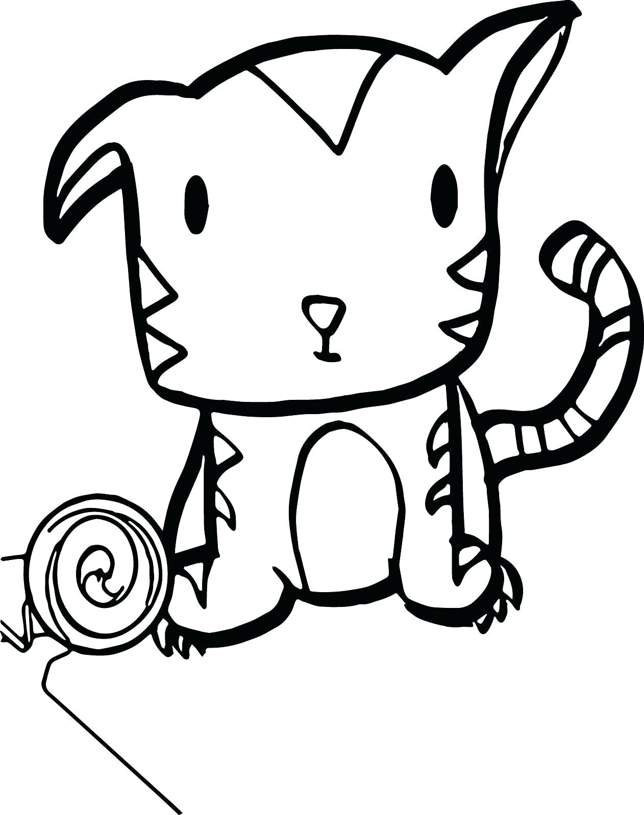 Cute Baby Tiger Coloring Pages  Baby Tiger Drawing at GetDrawings