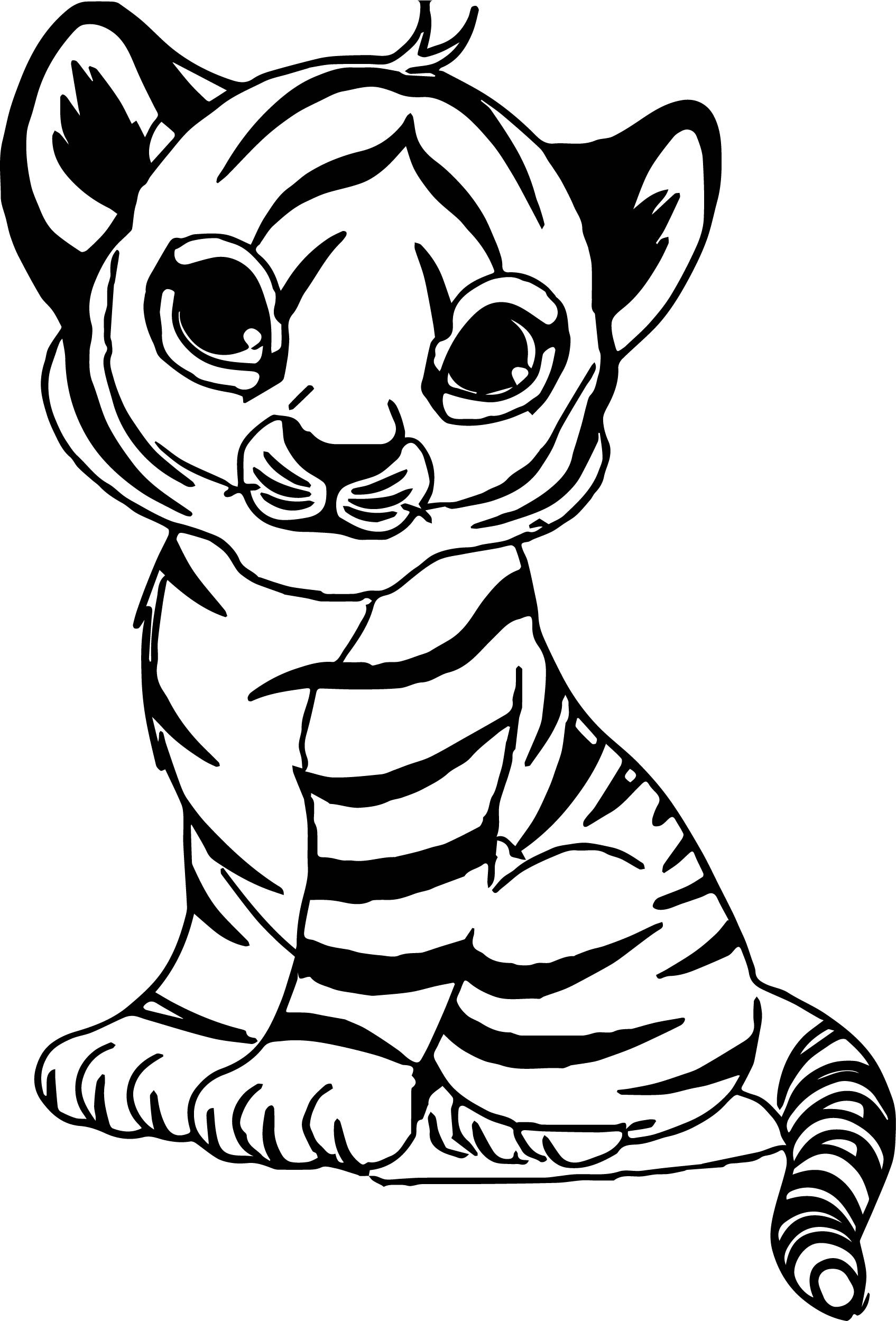 Cute Baby Tiger Coloring Pages  Cute Baby Tiger Coloring Page