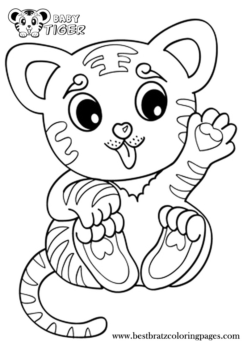 Cute Baby Tiger Coloring Pages  Coloring Pages Tiger Cubs Coloring Home