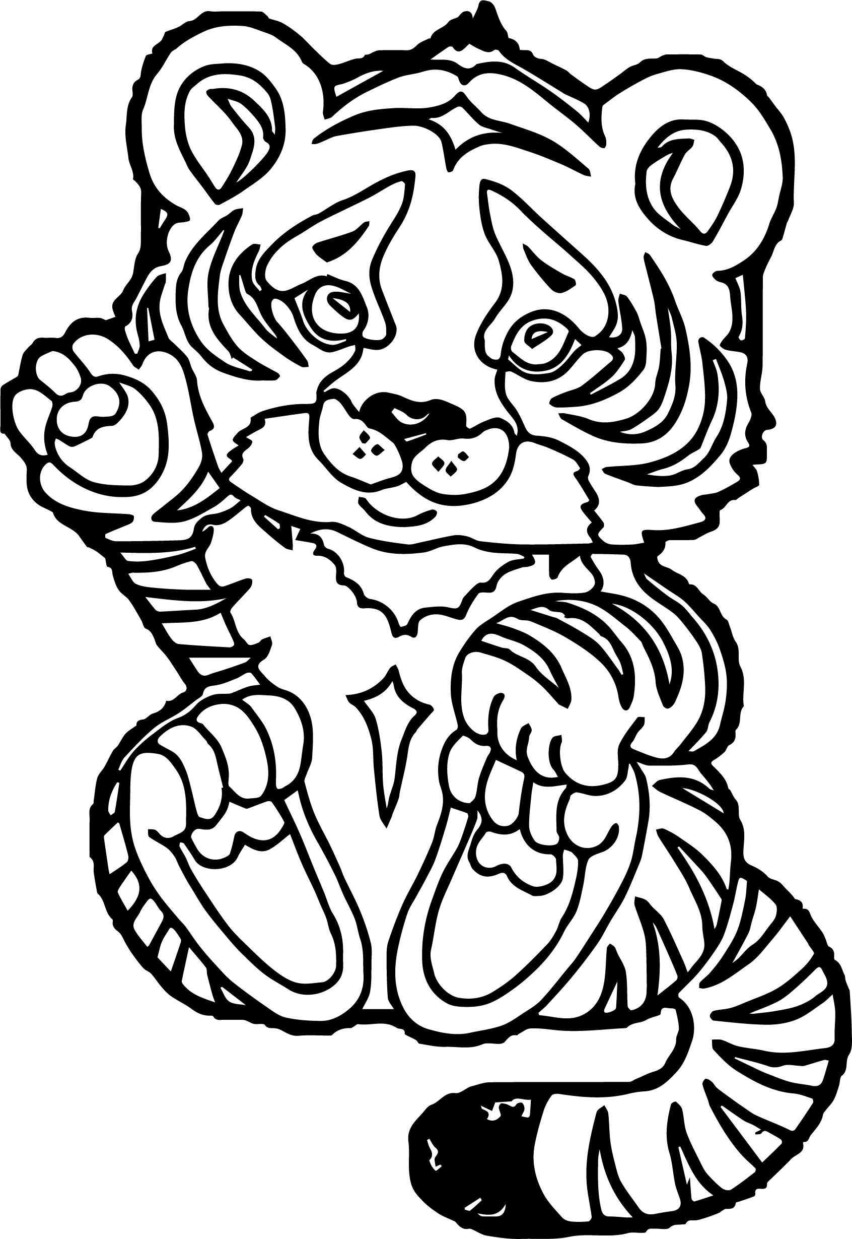 Cute Baby Tiger Coloring Pages  Tiger Baby Coloring Page