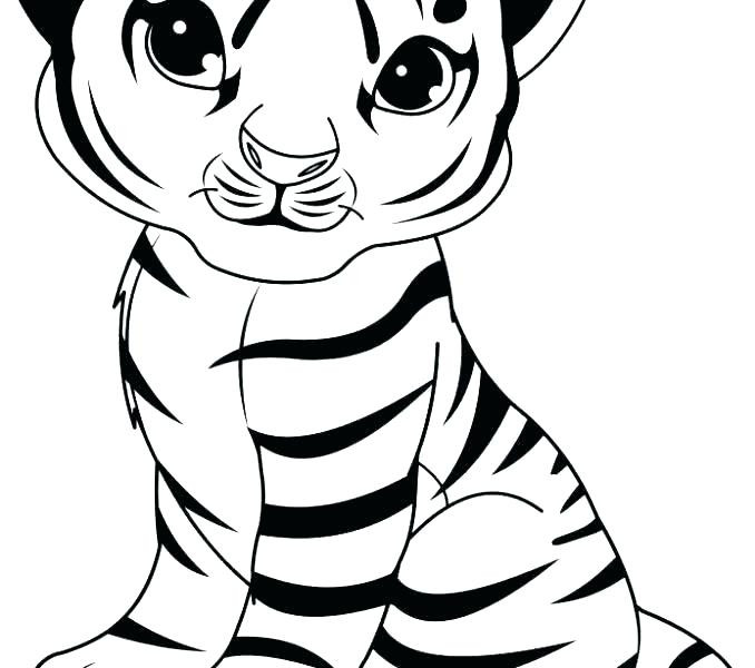 Cute Baby Tiger Coloring Pages  Coloring Pages Tiger Cubs