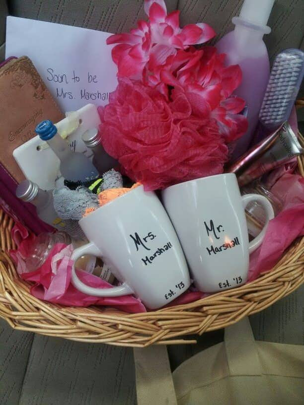 Cute Gift Basket Ideas  Cute Bridal Shower Gift Basket Ideas