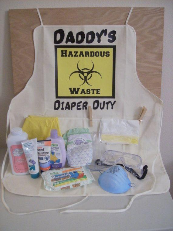 Daddy Baby Shower Gift Ideas  Daddy s Diaper Duty Hazardous Waste Baby Shower by