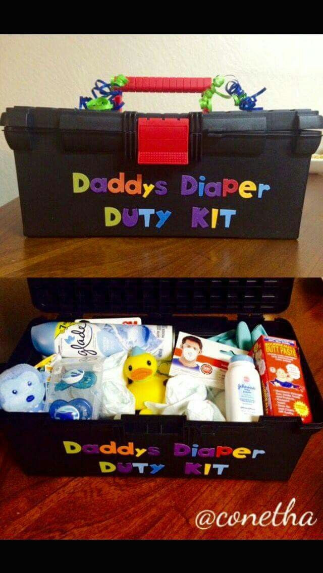 Daddy Baby Shower Gift Ideas  Daddy s Diaper Duty Kit