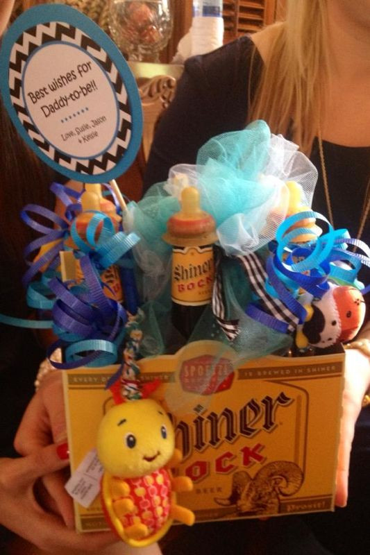 Daddy Baby Shower Gift Ideas  Baby shower t for dad I could make better Bud Light