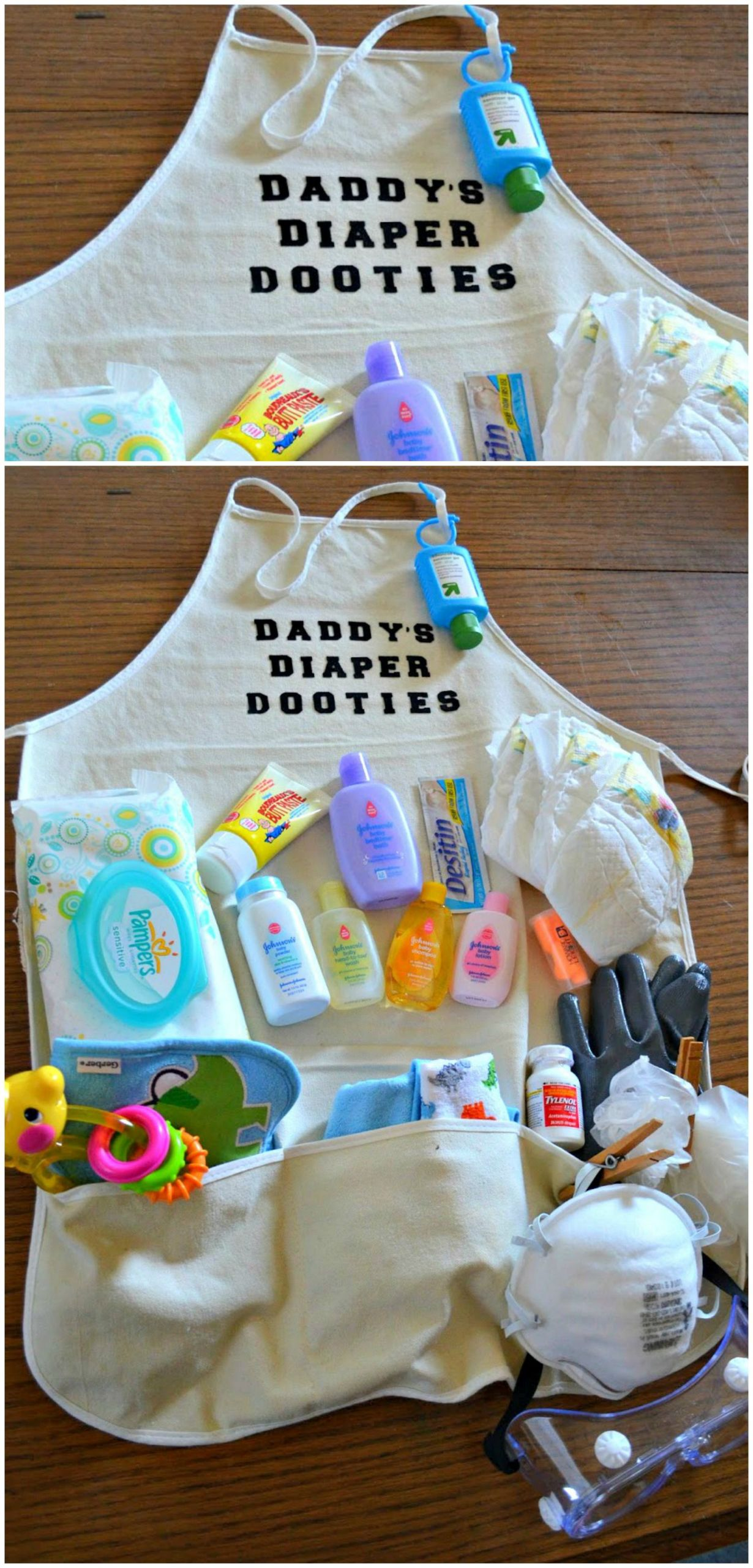 Daddy Baby Shower Gift Ideas  Daddy s Diaper Dooties Packed with diapers wipes