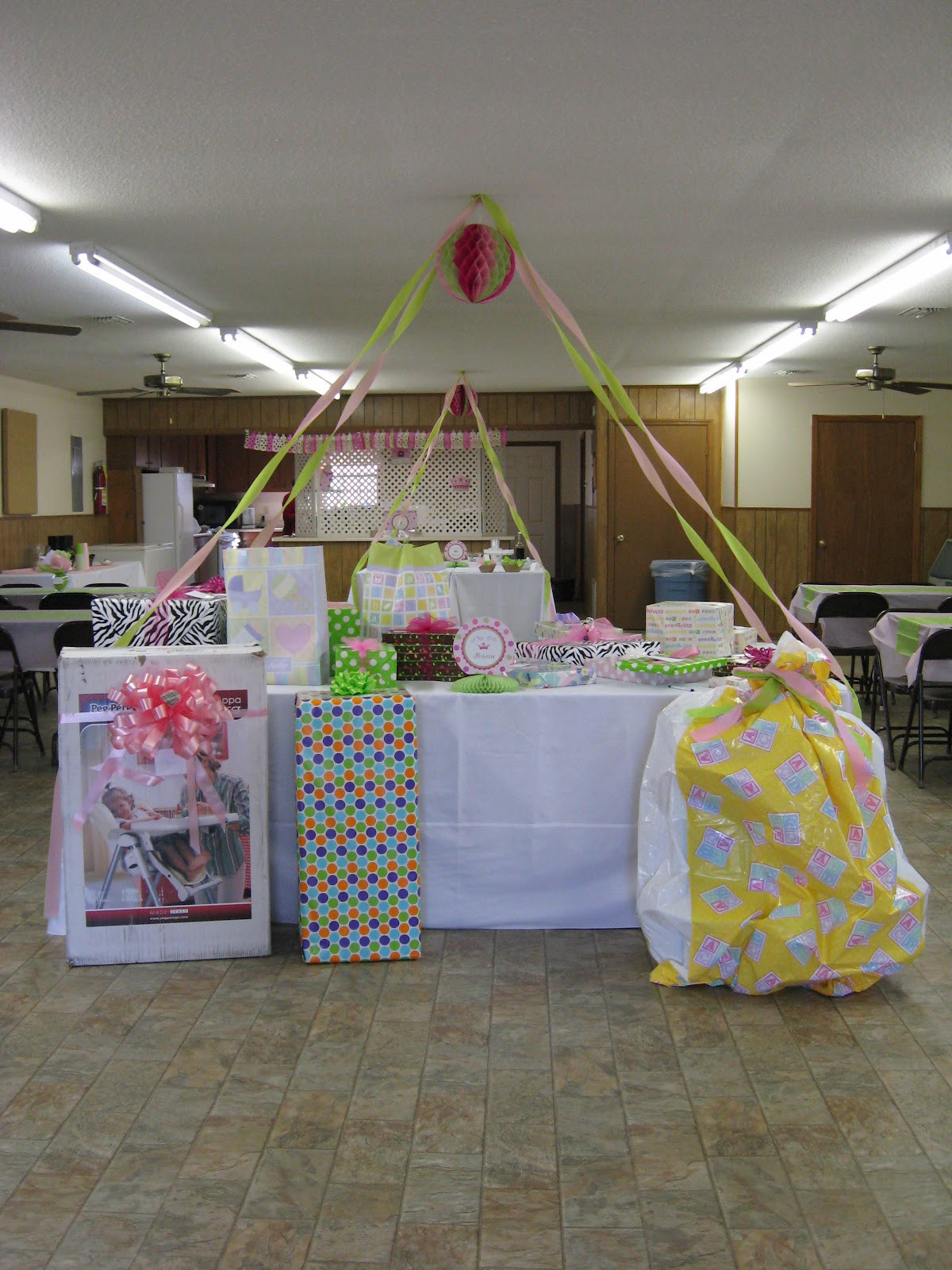 Decorating Ideas For Baby Shower Gift Table  A Home in the Country Baby Shower