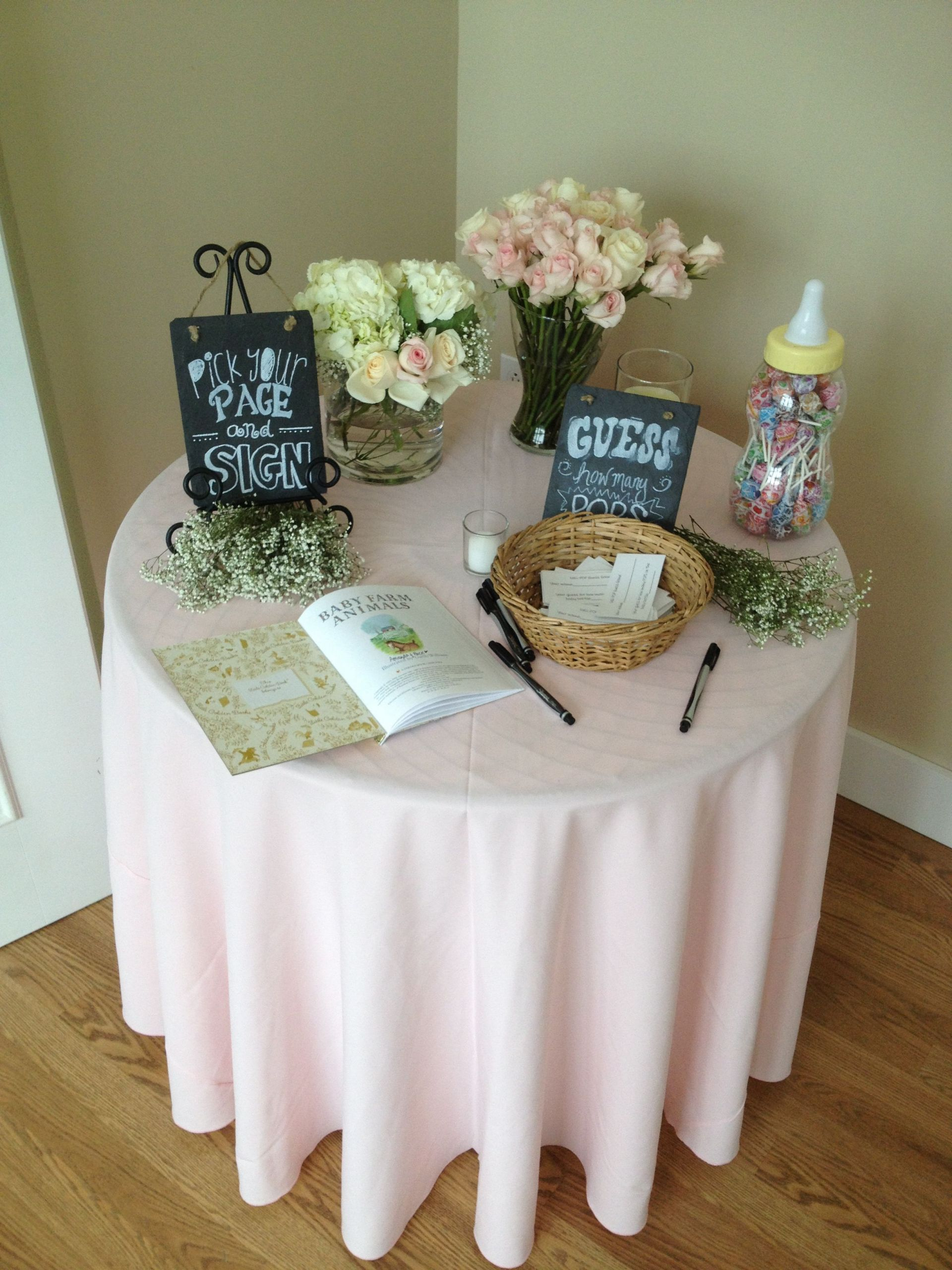 Decorating Ideas For Baby Shower Gift Table  Entrance Table at a baby shower Our Events