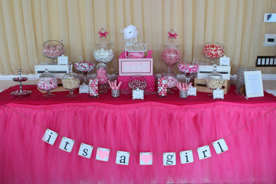Decorating Ideas For Baby Shower Gift Table  31 Baby Shower Candy Table Decoration Ideas
