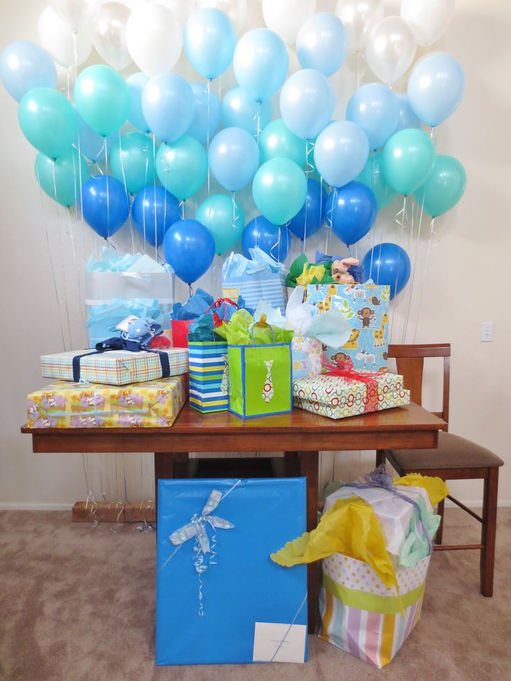 Decorating Ideas For Baby Shower Gift Table  Balloon Decoration Ideas For A Baby Shower