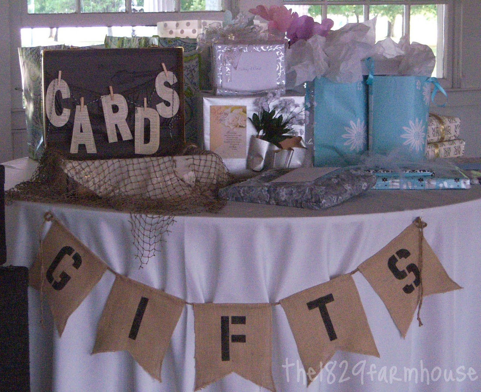 Decorating Ideas For Baby Shower Gift Table  rustic vintage t table