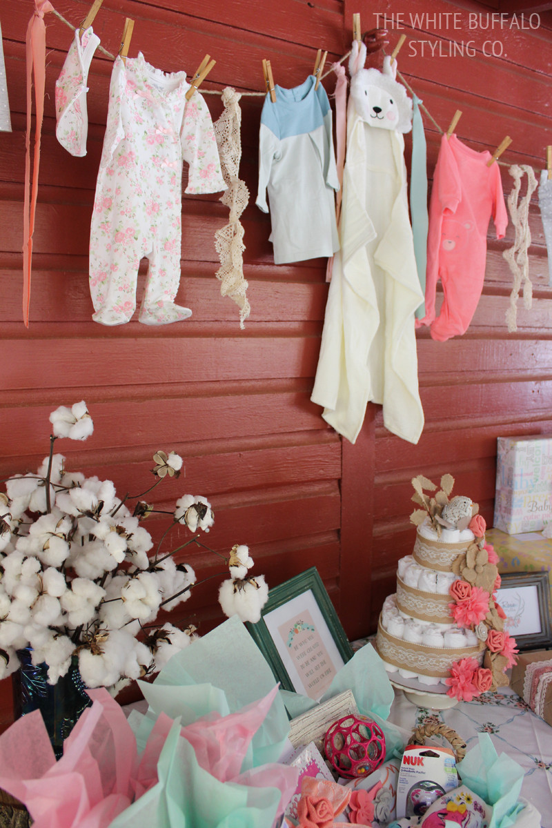 Decorating Ideas For Baby Shower Gift Table  Vintage & Rustic Fall Baby Shower