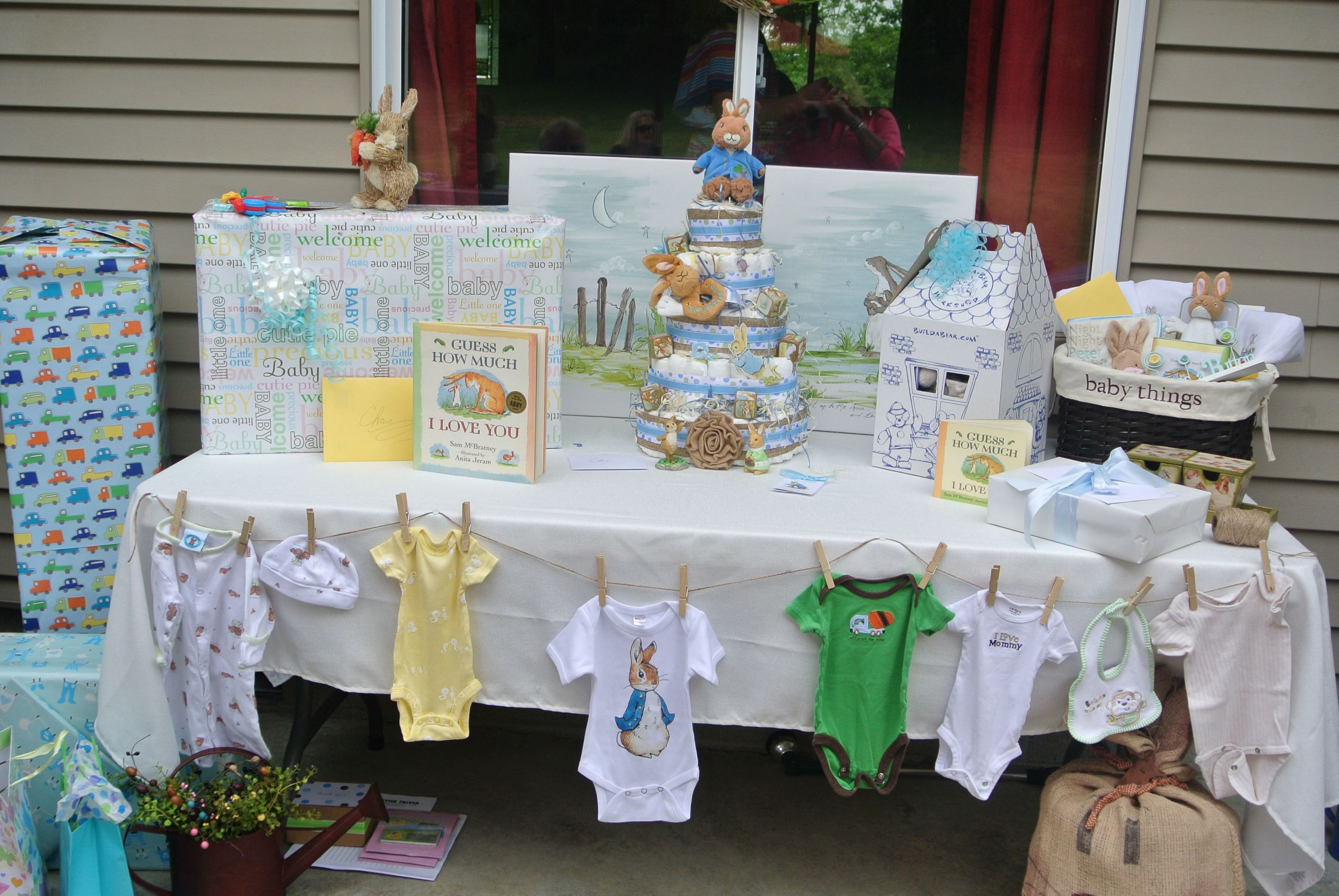 Decorating Ideas For Baby Shower Gift Table  baby shower t table