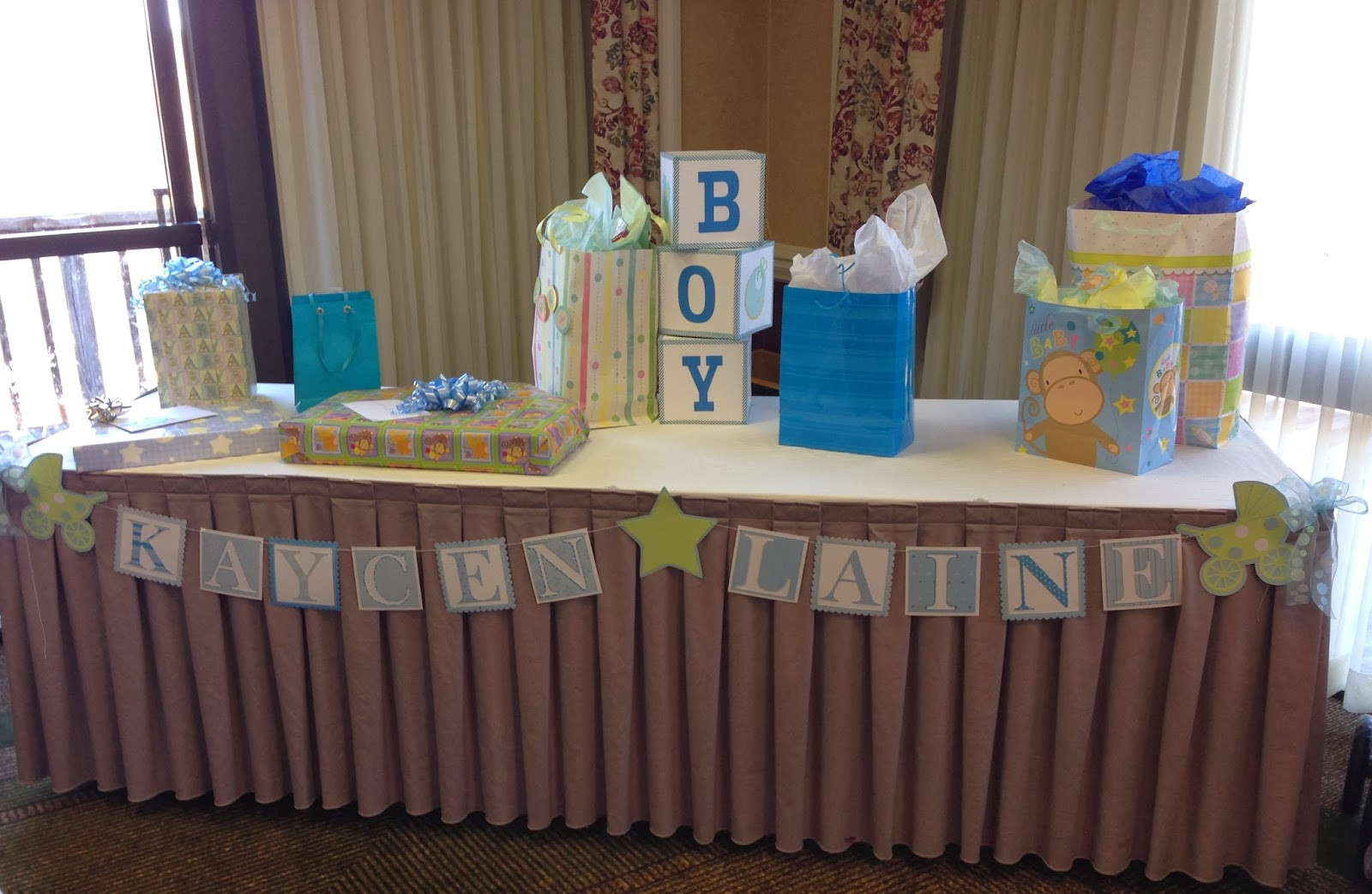 Decorating Ideas For Baby Shower Gift Table  Mrs Crafty Adams Baby Shower Decorations