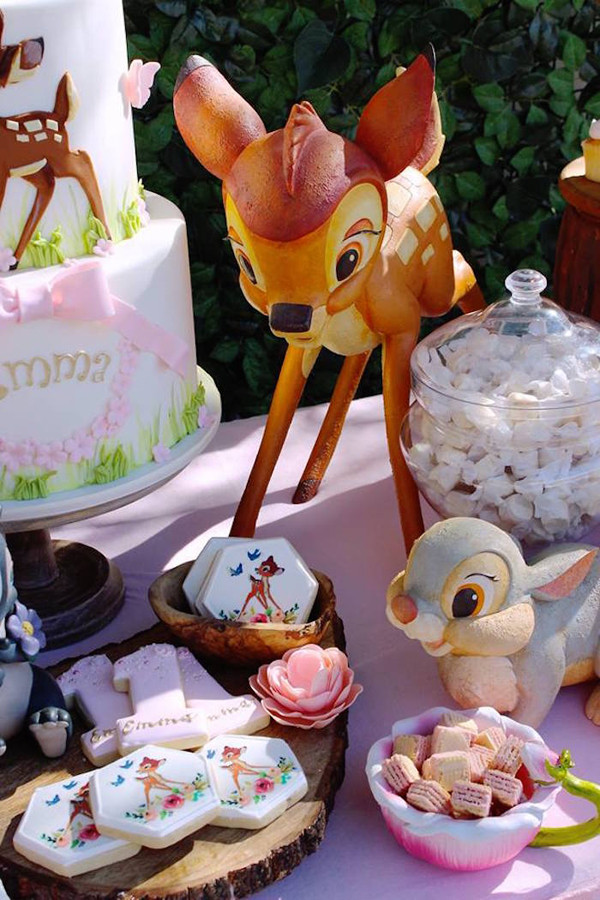 Decorations For A Birthday Party  Gorgeous Bambi 1st Birthday Party Pretty My Party