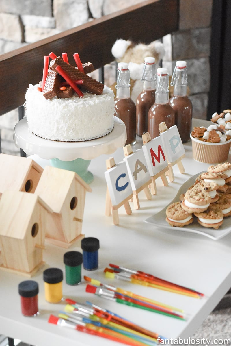 Decorations For A Birthday Party  Camping Birthday Party Ideas for Indoors Fantabulosity