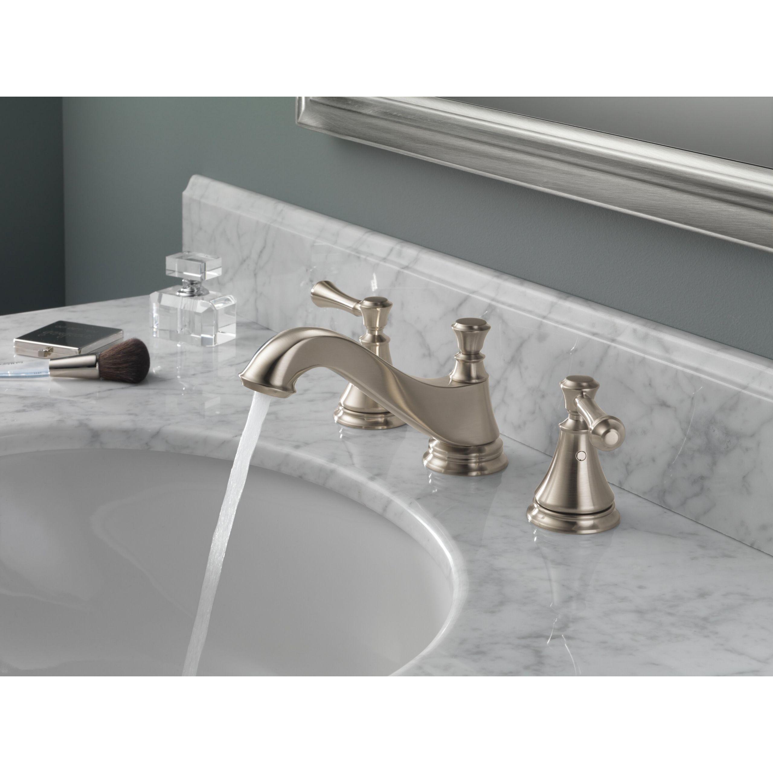 Delta Bathroom Sink Faucet  Delta Cassidy Double Handle Widespread Bathroom Faucet