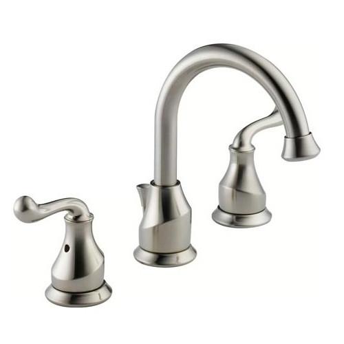 Delta Bathroom Sink Faucet  Delta LF SS Talbott Two Handle Widespread Bathroom