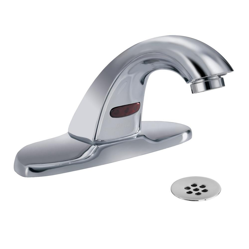 Delta Bathroom Sink Faucet  Delta mercial Battery Powered Single Hole Touchless
