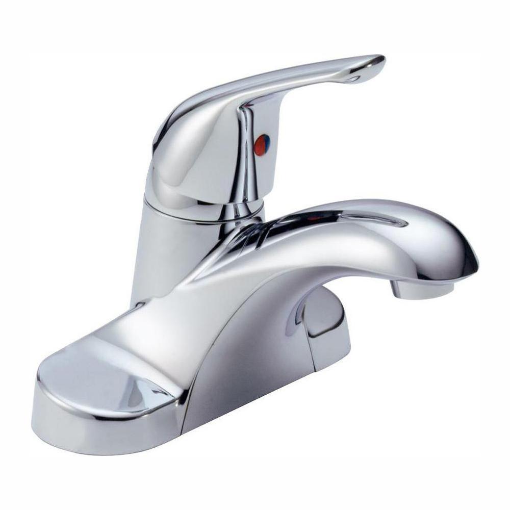 Delta Bathroom Sink Faucet  Delta Foundations 4 in Centerset Single Handle Bathroom