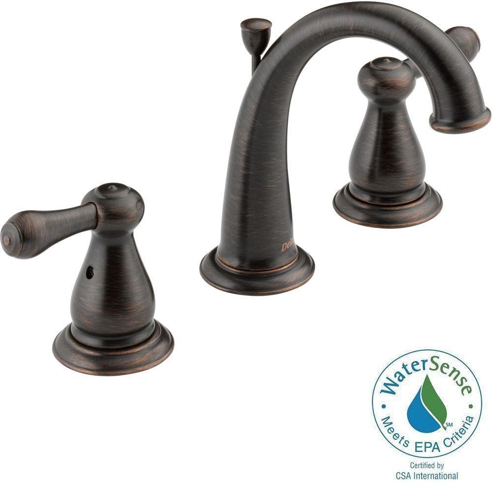 Delta Bathroom Sink Faucet  Delta Leland 8 in Widespread 2 Handle High Arc Bathroom