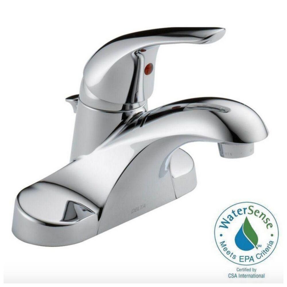 Delta Bathroom Sink Faucet  Delta Bathroom Bath Sink Water Faucet Single Handle