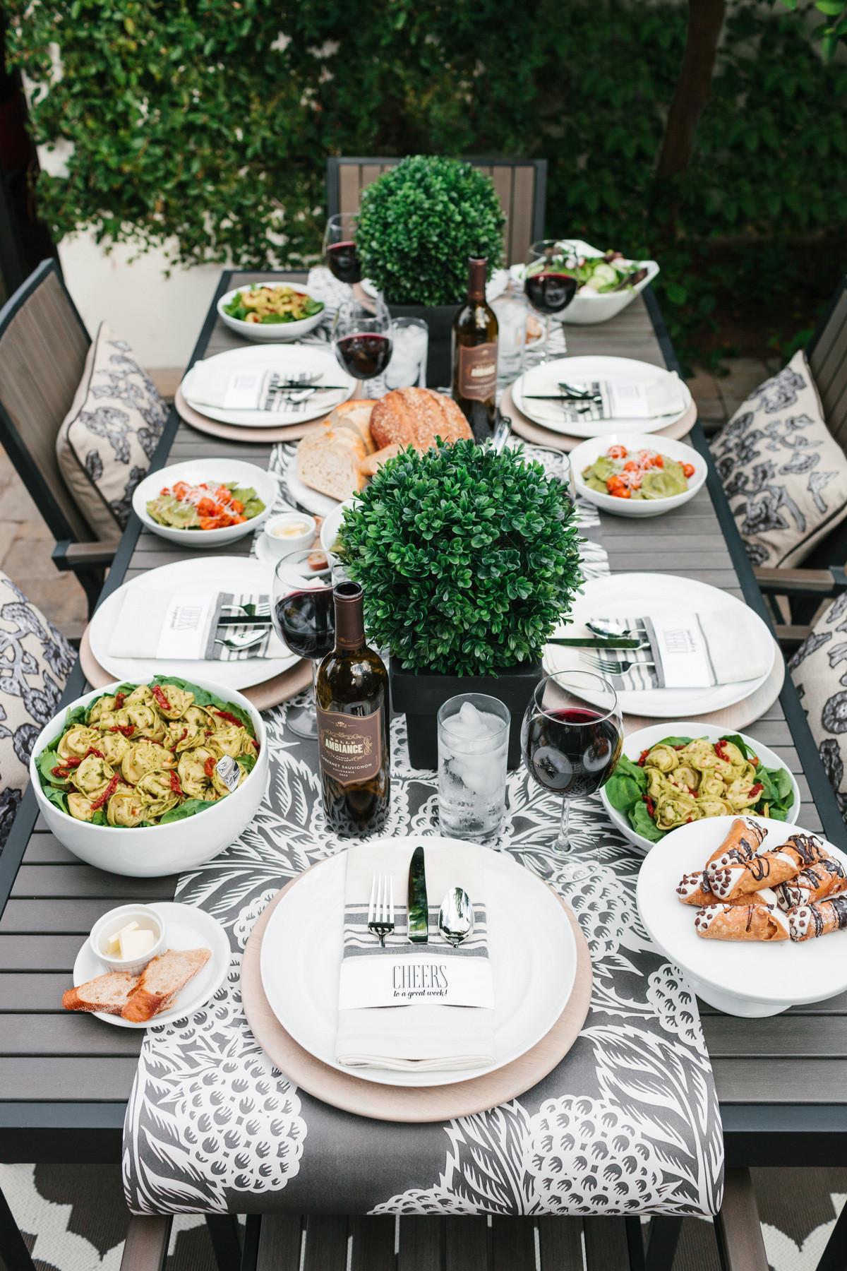 Dinner Party Table Ideas  Girls Night Italian Dinner