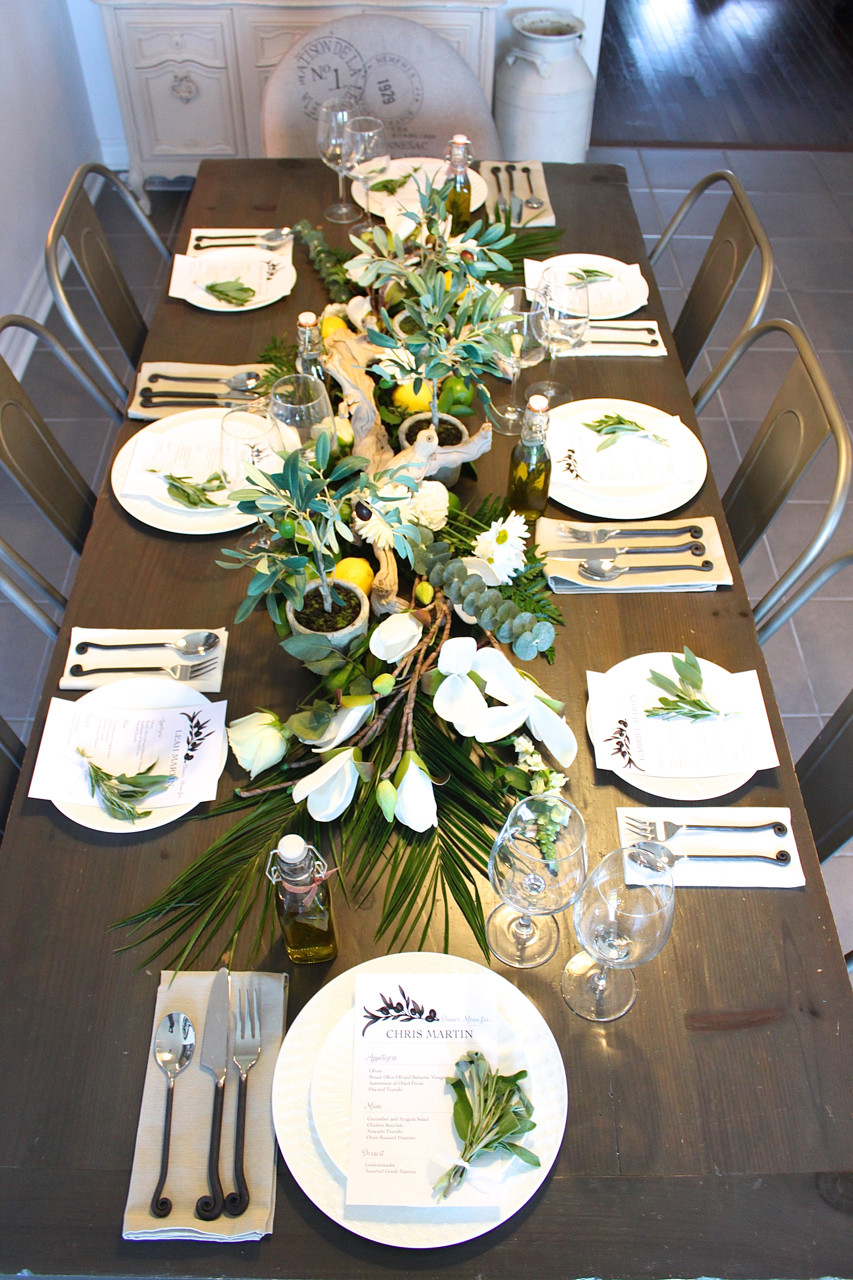 Dinner Party Table Ideas  Greek Inspired Dinner Party Part 1