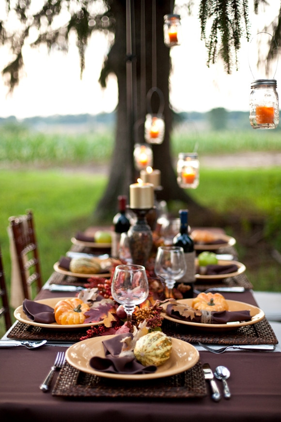 Dinner Party Table Ideas  Thanksgiving DIY Tablescape a Dinner Party Ideas Party