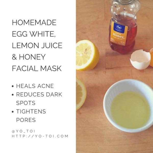 DIY Acne Face Mask  Egg White Lemon Juice & Honey Facial Mask for Acne Scars