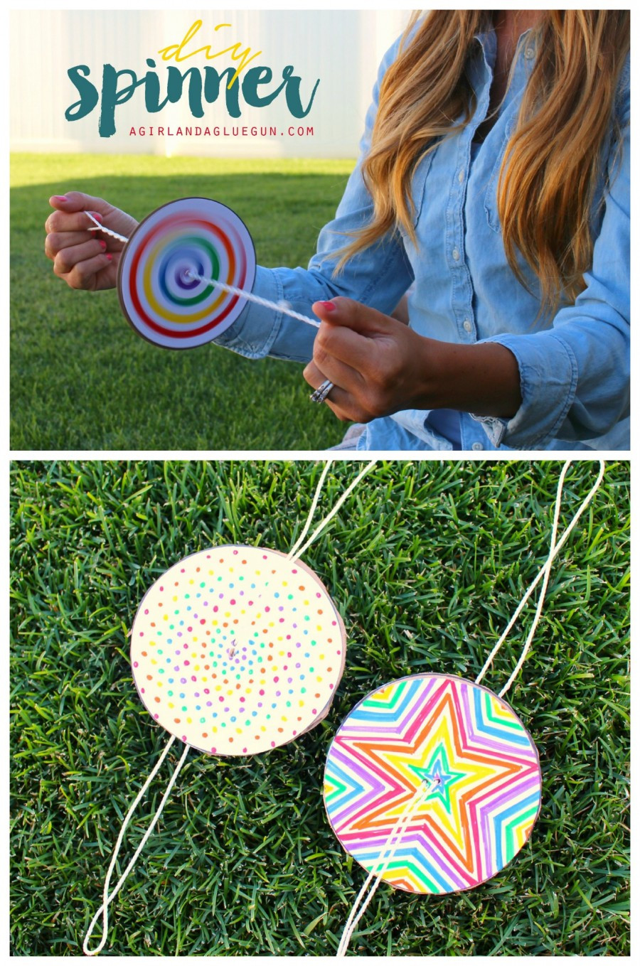 DIY Craft Ideas For Kids  fun spinners craft for kids to do this summer 900x1359