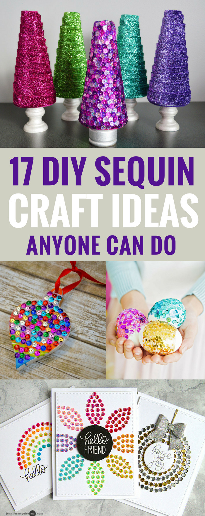 DIY Craft Ideas For Kids  17 DIY Sequin Crafts Ideas Anyone Can Do