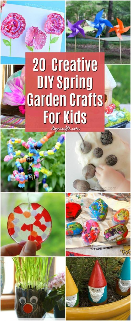 DIY Craft Ideas For Kids  20 Fun And Creative DIY Spring Garden Crafts For Kids