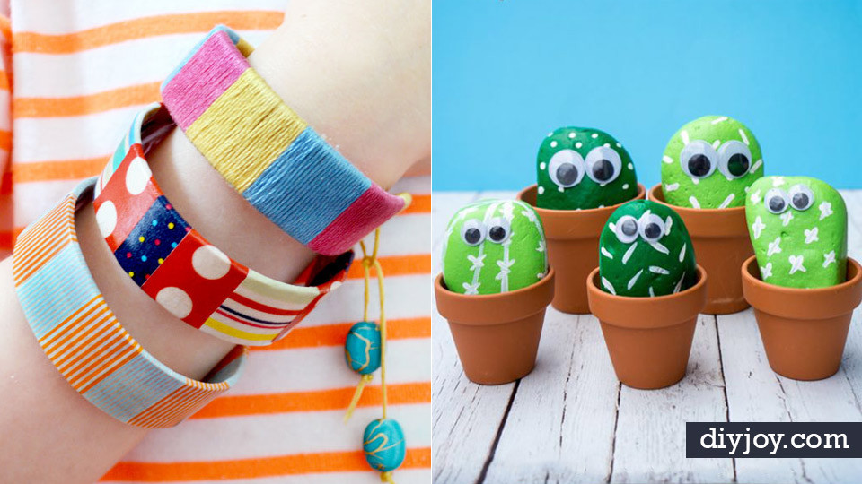 DIY Craft Ideas For Kids  40 Crafts and DIY Ideas for Bored Kids