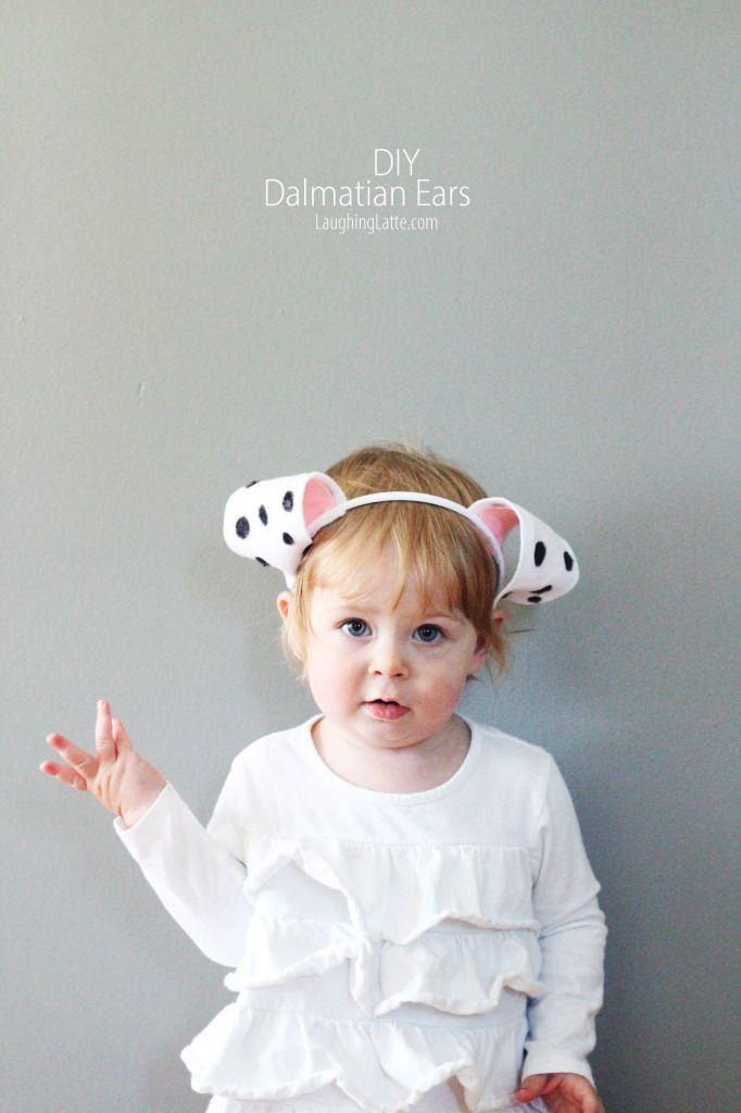 DIY Dalmatian Costume Baby  DIY Felt Dalmatian Ears Free ear template included